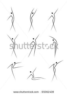 Abstract female figures in movement by olycum, via ShutterStock