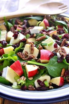 Apple Brie Salad combines the crispness of apples with the creaminess of Brie cheese in a delicious salad that's perfect anytime. Fresh, crisp and ready to go