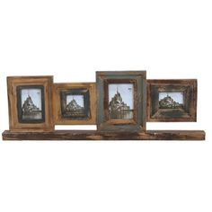 @Overstock - Privilege 4-opening Reclaimed Wood Photo Frame - Show off your favorite photos of friends, family, pets or stunning landscapes with this rustic wooden photo frame. This shelf style frame features four openings to customize your decor and is made with sturdy reclaimed wood.  http://www.overstock.com/Home-Garden/Privilege-4-opening-Reclaimed-Wood-Photo-Frame/8643082/product.html?CID=214117 $65.68