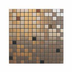 Inoxia SpeedTiles - Copernic Mosaic Self Adhesive Metal Tiles - COPERNIC ID764-1 - Home Depot Canada