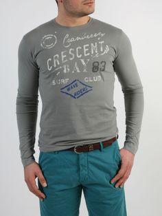 CRANBERRY - Μπλούζα με τύπωμα εμπρός. Sweatshirts, Long Sleeve, Sleeves, Sweaters, Mens Tops, T Shirt, Style, Fashion, Supreme T Shirt