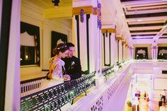 Bridget & Billy |Soldiers & Sailors Memorial Hall & Museum | Pittsburgh Wedding Venue | Wedding Reception | Historic Wedding | October Wedding | Wedding | Caitlin Thomas Photography | Grand Ballroom | Oakmont Bakery | Fall Weddings | Oakland | Balcony
