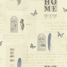 Arthouse Lochs & Lagoons Collection Lomond Cream/Blue 256200