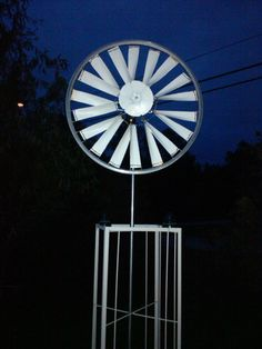 Bicycle Rim Windmill-not too hard to put together.