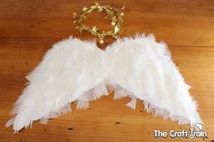 A year or two ago my girls made their own pair of rainbow angel wings. They looked adorably kid-made, and I remember at the time having to restrain myself from getting in there …