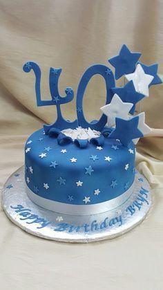 The Cakebox Bahamas:  Fondant finished birthday cake with starburst.