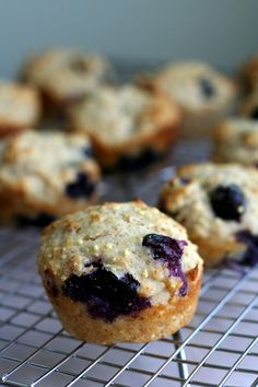 Blueberry Honey Millet Muffins  (adapted from Super Natural Every Day's recipe for millet muffins)  Not gluten free