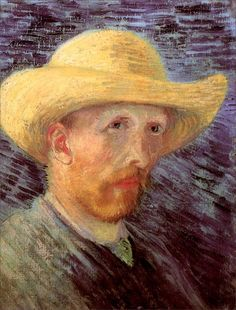 Vincent van Gogh · Autoritratto con cappello di paglia · 1887 · Van Gogh Museum · Amsterdam