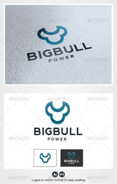 Big Bull Logo #GraphicRiver Pack included: Ai & EPS 10 CMYK 100% vector Easy to edit color and text Font Used: Font: Nevis Please rate, if you like it ! Thank you! Created: 10August12 GraphicsFilesIncluded: VectorEPS #AIIllustrator Layered: Yes MinimumAdobeCSVersion: CS Resolution: Resizable Tags:
