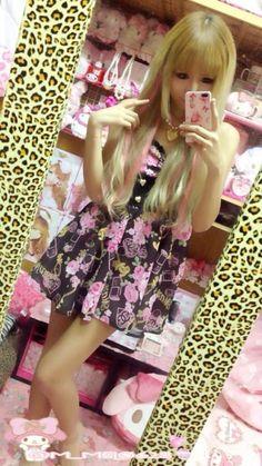 gyaru x summer x outfits x ageho x MA*RS // aaggghhh my fav print <333
