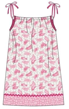 Free Pillowcase Dress Pattern. Actually feeling like I could make this! Scary thought! But honestly how cute for summer sleeping!