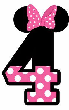 Vejam que lindos esses números com o tema Mickey e Minie! Para quem esta com a salinha decorada com este tema, vai ficar lindo na pared...