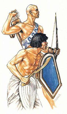 """""""Soldados egipcios en la Batalla de Kadesh"""", Andrey Karashchuk"""