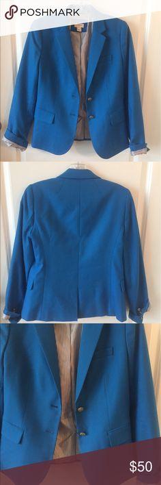 J. Crew electric blue blazer J. Crew electric blue blazer, only worn once, like new condition J. Crew Jackets & Coats Blazers