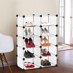 amazoncom langria 10cube diy open shoe rack multi use modular