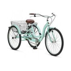 "THREE WHEEL CRUISER BIKE 26"" ADULT TRICYCLE BICYCLE TIRE SEAT BASKET BEACH 3 #Schwinn"