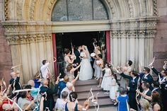 Philadelphia Industrial Wedding at the Urban Outfitters HQ // via ruffledblog.com