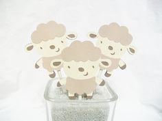 Lamb cupcake toppers