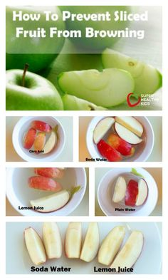 How to Prevent Sliced Fruit From Turning Brown - No more brown apples in my salad! We use this trick every time! http://www.superhealthykids.com/how-to-prevent-sliced-fruit-from-turning-brown/