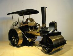 Dampfwalze Wilesco D 36 MS Dampfmaschine Messing - Guter Zustand ! Messing, Ebay, Steam Engine, Antique Toys, Packaging