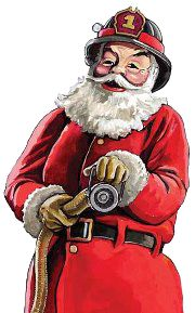Fireman pictures for ChevyTech and all fireman - Page 53 Firefighter Paramedic, Firefighter Shirts, Volunteer Firefighter, Firefighter Quotes, Father Christmas, Christmas Art, Christmas Villages, Christmas Photos, Fire Dept