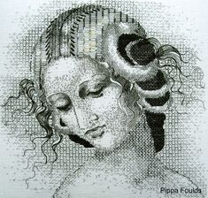 Blackwork shading by Pippa Foulds  http://saves9embroidery.blogspot.co.uk/2012/07/hot-off-press.html