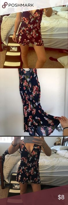 🌺Juniors Floral Romper🌺 Re-posh♠️Super cute small size floral romper. Didn't realize it was juniors sizing. Too short on me. Beautiful lightweight viscose material. Shorts bottom. Any ?? Just ask 😘 Shorts Skorts