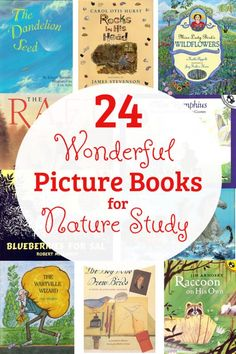 24 Wonderful Picture Books for Nature Study is part of Homeschool nature study - These picture books for nature study are perfect to read whether you have a love for nature walks or simply enjoy reading living literature in your home Homeschool Books, Homeschooling, Science Books, Science Journals, Science Crafts, Science Experiments, Nature Activities, Nature Study, Nature Nature