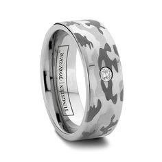 Cobalt Chrome Flat Camo Ring For Him-steven! Camo Wedding Bands, Tungsten Wedding Bands, Wedding Men, Wedding Rings, Wedding Ideas, Wedding Stuff, Dream Wedding, Camo Rings, Camouflage Wedding