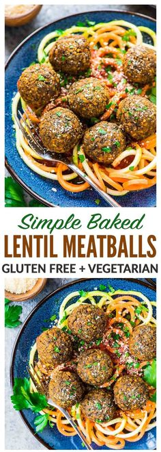 Easy Vegetarian Lentil Meatballs Simple healthy and protein packed Made with lentils carrots and Italian spices then oven baked Perfect for filling meatless meals and th. Lunch Recipes, Meat Recipes, Slow Cooker Recipes, Mexican Food Recipes, Cooking Recipes, Chicken Recipes, Dinner Recipes, Dinner Ideas, Online Recipes