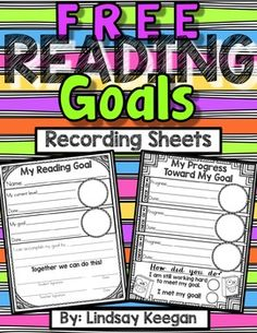 Use these reading goals recording sheets to help your students visualize and…