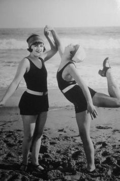 flappers at the beach