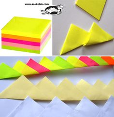 Make a crown with sticky notes