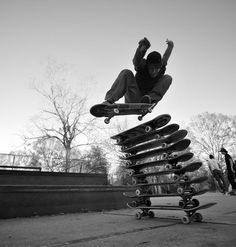 #KyleCox  did an incredible jump over 9 skateboards! Can you do more?  Photo by +RedBull