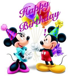 10 Best Happy Birthday Quotes Is it your birthday or a friend& birthday and your looking for the perfect birthday images? Here are 10 of the best happy birthday quotes for you to use. Disney Birthday Wishes, Happy Birthday Mickey Mouse, Best Happy Birthday Quotes, Happy Birthday Greetings Friends, Happy Birthday Kids, Birthday Wishes Cake, Happy Birthday Celebration, Birthday Wishes And Images, Happy Birthday Pictures