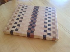 End grain cutting board.