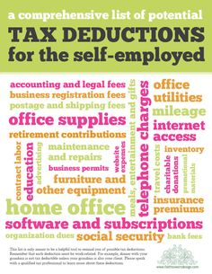 a list of tax deductions... very handy!