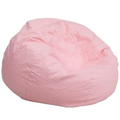 Black Friday 2014 Flash Furniture Bean Bag Chair Oversized Light Pink With White Dots From Cyber Monday