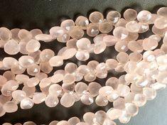 Rose Quartz Beads Rose Quartz Faceted Heart by gemsforjewels