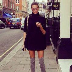 Street style. Overknee boots