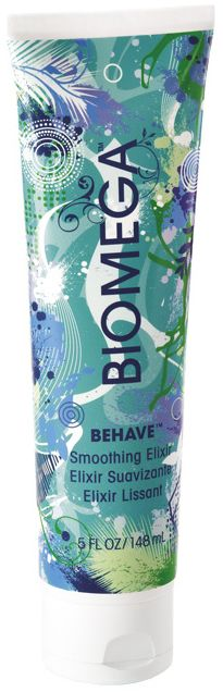 Aquage Biomega 'Behave' Smoothing Elixir. Apply on wet hair and style with ease! Get ready for unbelievable softness.