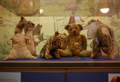 The REAL Winnie the Pooh and his friends.  Yes, they were real stuffed toys.