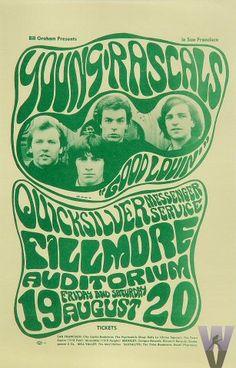 8/19-20/ 1966 ...... Fillmore Auditorium ... Young Rascals ..... Quicksilver Messenger Service ..... artist ..... WES WILSON