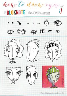 Amazing Learn To Draw Eyes Ideas. Astounding Learn To Draw Eyes Ideas. Love Drawings, Doodle Drawings, Cartoon Drawings, Doodle Art, Drawing Faces, Drawing Lessons, Drawing Techniques, Art Lessons, Drawing Tips