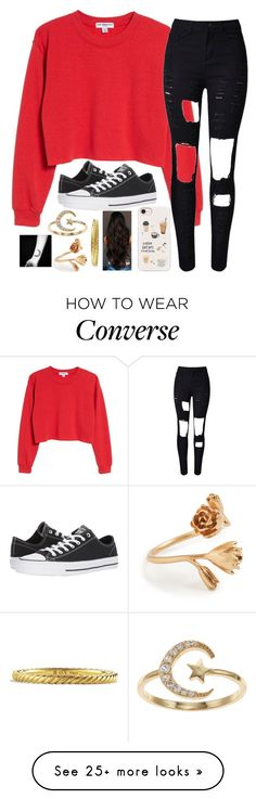 """""""Untitled #2258"""" by tokyoghoul1 on Polyvore featuring Sub_Urban Riot, WithChic, Converse, Casetify, LC Lauren Conrad, Madewell and David Yurman"""