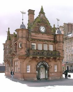st enoch's station building, Glasgow.  Fancy some refreshment after a busy shopping or sightseeing day? There's an nice little café inside waiting for you.
