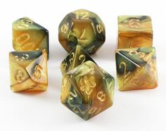 Combo Attack dice are ready for your greatest adventures! Crafted in a two color mix, Combo Attack dice (black/yellow) are bold and beautiful. Each set is finished in a soft, iridescence and includes
