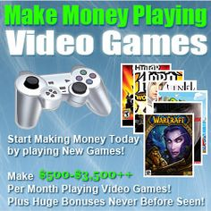 Online Video Game Tester Benefits: No Boss, No Noisy Alarm Clocks, and Definitely No Schedules! You make your own decisions. There are no unrealistic deadlines and nobody telling you how much to work. You get to decide how much you work, part-time, full-time or OVERTIME. Earn Up to $500-$3500 every month making a better than average income doing what you want, when you want. Get out of the rat race today! You get to decide because you have the freedom of working for yourself.