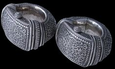 Gujarat, India Silver Anklets