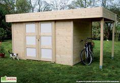 Votre abri de jardin en bois Larvik 28 mm de chez Solid vous apporte une double solution de rangement grâce à son petit débordement de 1,20 x 2,41 m (l,l) pouvant faire office de bucher. Votre abri est équipé d'une double porte de 1,64 x 1,71 m ... (suite)